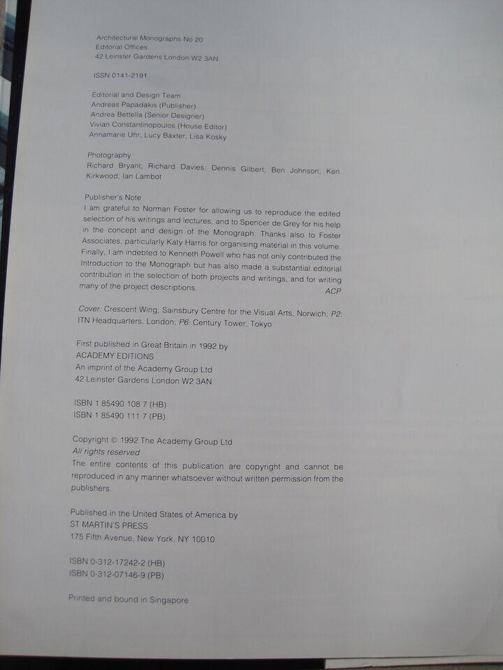 Fosters Associates, _Academy Editions Ltd, St. Martin's