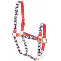 Black Daisy W/red Polka Dots Accent Fashion Horse Halter