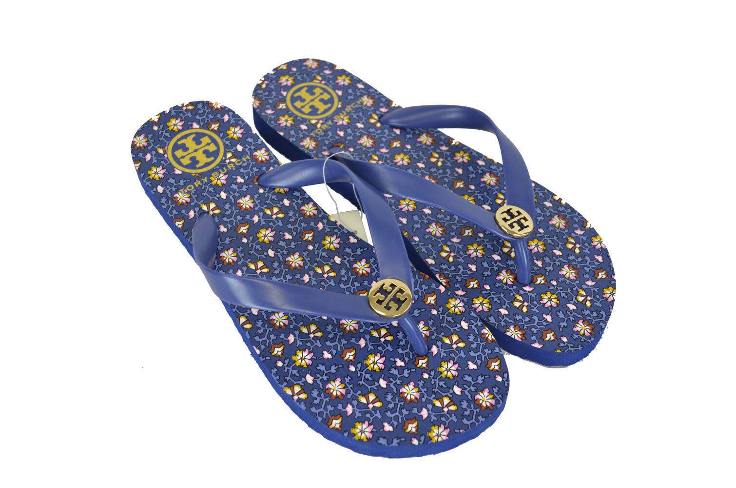 Tory Burch Tongs String Sandales Floral bleu pasny 7