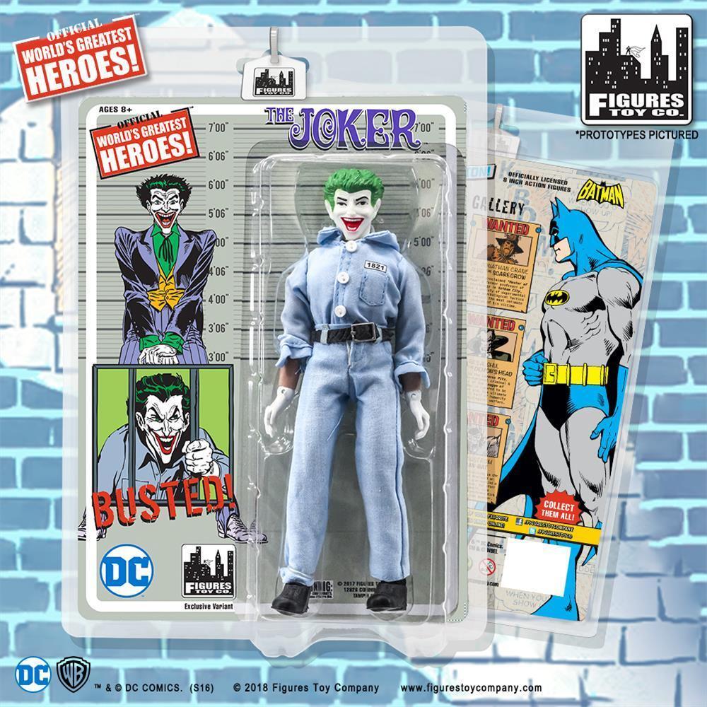 DC Comics Batman Retro   8 inch Figure Joker Prison uniform Variant  NEW