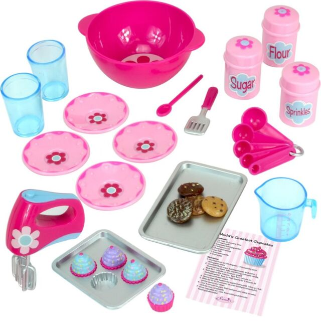 18 Inch Doll Baking Set Of 23 Pcs Fits American Girl Furniture Mini Food Cookw