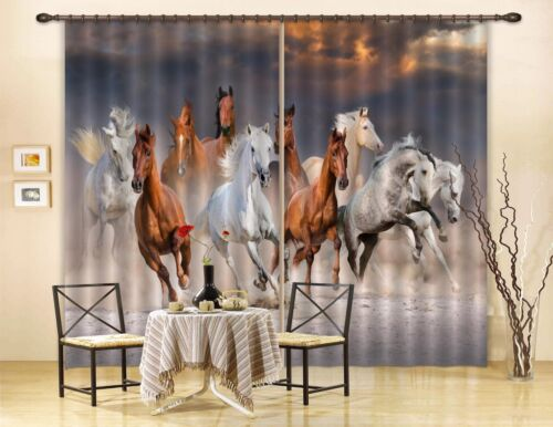3D Horses 716 Blockout Photo Curtain Printing Curtains Drapes Fabric Window AU