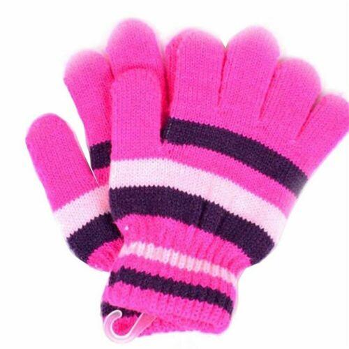 Children Girls Boys Magic Kids Elastic Mittens Knitted Warmer Gloves Winter J9Z4