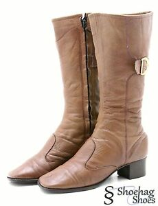 Flings Womens Boots Size 7 M VTG Mid Calf Brown Leather Buckle ...