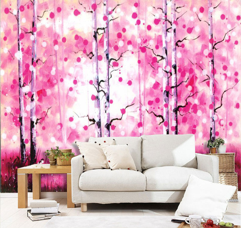 3D Pretty Trees Painting 607 Paper Wall Print Wall Decal Wall Deco Indoor Murals