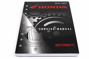 new service shop repair manual arx1200 aquatrax r12 r12x 03 07 honda rh ebay com Helm Service Manuals Honda Honda Motorcycle Service Manual PDF