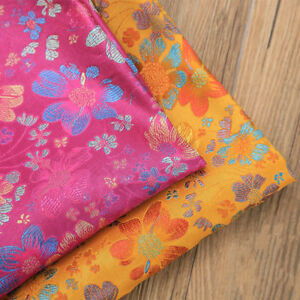 Chinese-Jacquard-Floral-Damask-Fabric-Brocade-Cloths-Tapestry-Costume-DIY-Sewing