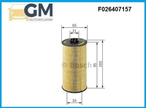 FILTRO OLIO BOSCH F026407157 AUDI A3 2.0 TDI QUATTRO 135KW 184HP 1968cc