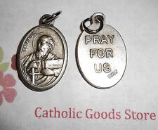 St. Paul  - Pray for Us -  Italian Antique Silver tone OX 1 inch Medal