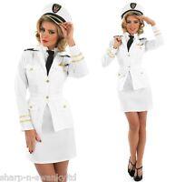Ladies 1940s Sailor Officer Uniform Fancy Dress Costume Outfit 8-26 Plus Size