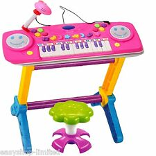KIDS CHILDRENS 44 KEY ELECTRONIC KEYBOARD PIANO MIC MULTI MUSICAL TOY RECORDS