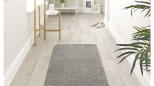 Buddy Washable Rug Shaggy Quick Dry Easy Care Rug 67x 150cm Silver Grey Runner