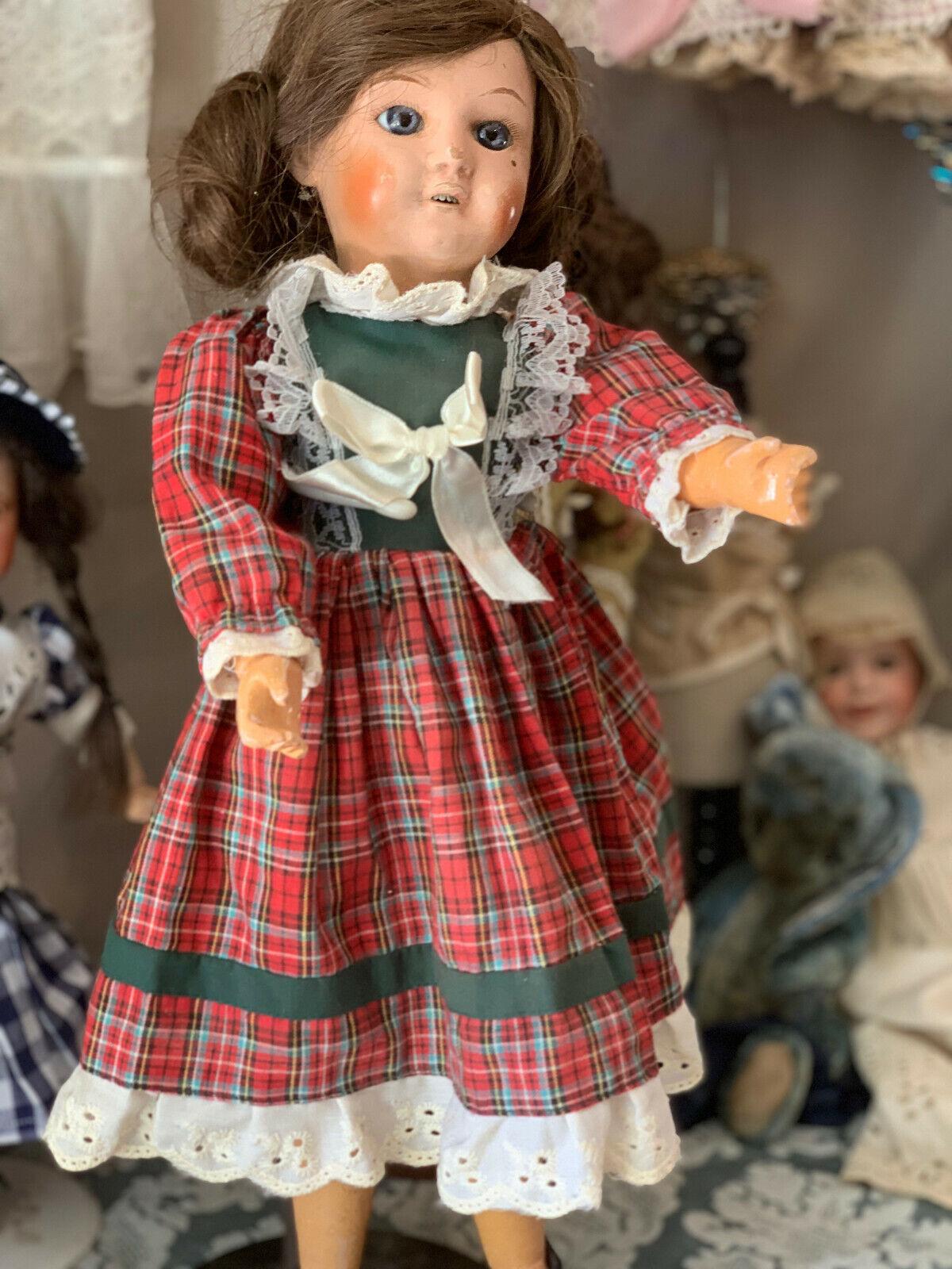 Antico Francese Testa di bambola SFBJ composizione 40 cm