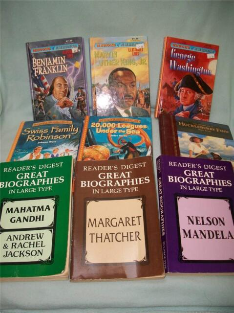 9 books Treasury Illustrated Classics HOMESCHOOL biography heroes America MLK