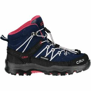 Cmp Trekking Chaussures Outdoorschuh Kids Rigel Mid Trekking Shoes Wp Bleu Foncé-afficher Le Titre D'origine