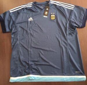 Details zu adidas Herren AFA Argentina Argentinien Fußball Trikot gr.M Navy