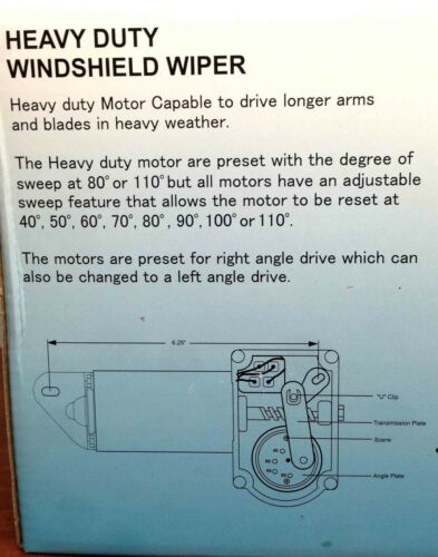 "Marine Boat Heavy Duty Wiper Blade Motor 80 Deg Adjustable 2.5/"" Shaft Two Speed"