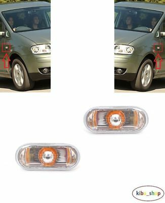 VOLKSWAGEN CADDY 2004-2015 2X SIDE INDICATOR REPEATER CLEAR LEFT RIGHT
