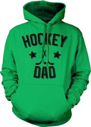 Hockey Dad Father Puck Ice Rink Helmet Team Supporter Son Kid Hoodie Pullover