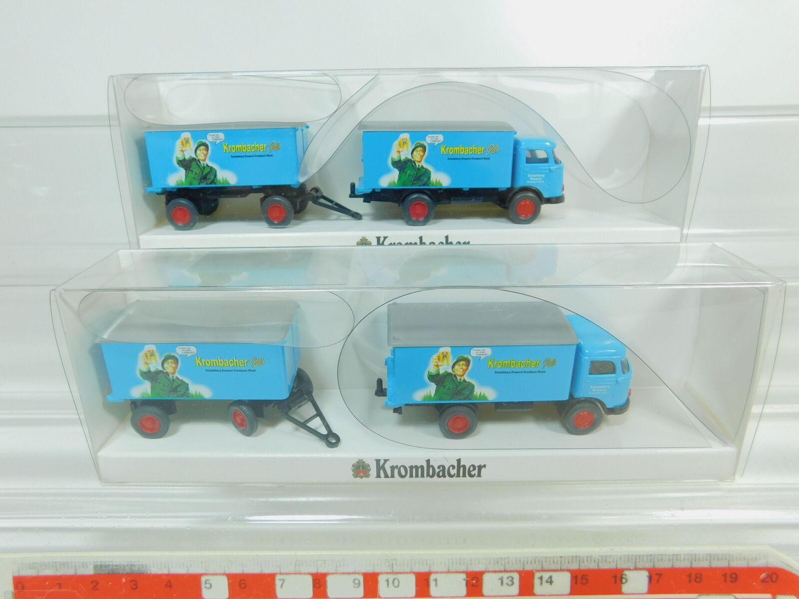 BO431-0,5 BO431-0,5 BO431-0,5  2x Wiking H0 1 87 2640 Koffer-Lastzug MB LP 321 Krombacher, s.g.OVP  | Mittlere Kosten  cec230