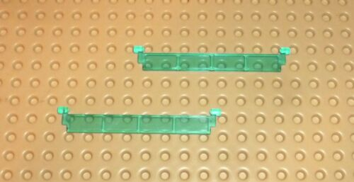 GARAGE Roller Door Section without Handle 4218 TR LIGHT BLUE x2 LEGO T61