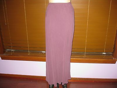 LOOSE THREADS AUBERGINE SILK DE CHINE LONG SKIRT SZ M NWOT!