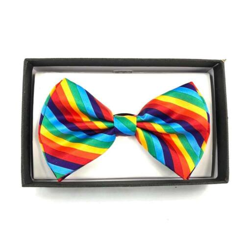 Rainbow Color Bow Tie and Suspender Combo set Clothing Accessories