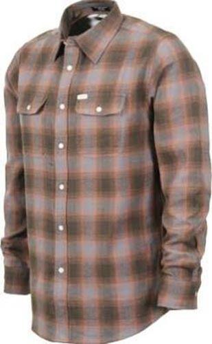 MATIX Parker Flannel Shirt (L) Grey