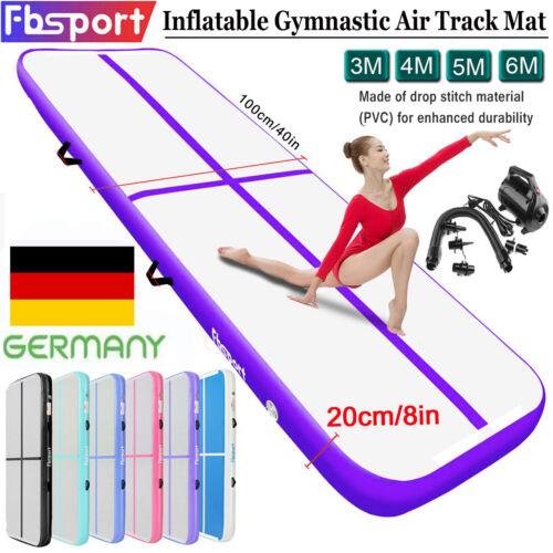 3M 4M 6M X 10CM 20CM Turnmatte Air Track Tumbling Aufblasbar Gymnastikmatte+Pump