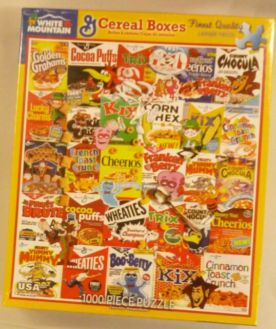White Mountain 1000 Pc Puzzle Cereal Boxes # 1261A