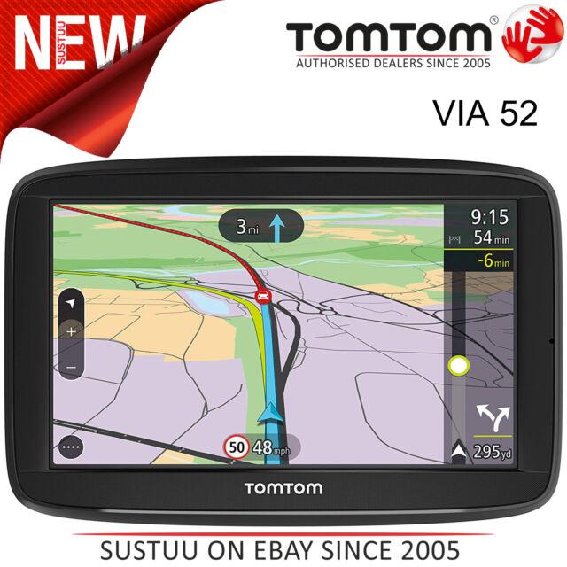TomTom Via 52 GPS SAT NAV Europe Lifetime Traffic Maps Voice Control  Bluetooth