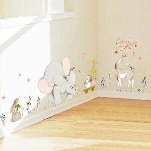 Kids-Room-Decorating-Wall-Sticker-Forest-Flower-Elephant-Rabbit-Giraffe-Animal