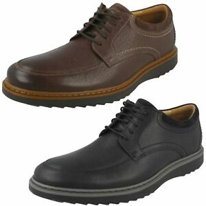 mens clarks unstructured un geo lo leather casual shoes