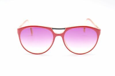 Vintage Saphira Customized 4121 58[]15 Rot Orange Oval Sonnenbrille Nos