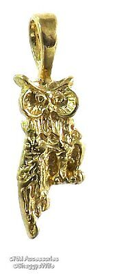Owl Charm / Pendant EP Gold Plated Jewelry with a Lifetime Guarantee!
