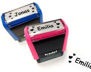 Stempel-individuell-mit-Name-Namensstempel-Kinderstempel-pink-blau-Maedchen-Jungs