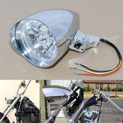 WCHAOEN H4 12V 35W Motorcycle Bullet Halogen Headlight For Harley Light Gold Chrome New car light