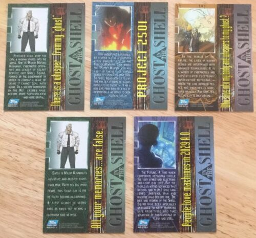 GHOST IN THE SHELL ORIGINAL MOVIE COLLECTORS CARD SET UNOPENED