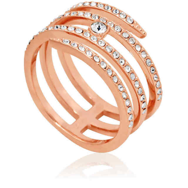7aad05c7ec2d2 Creativity Coiled Rose Gold Ring Size 6 EUR 52 2016 Swarovski Jewelry  5221420