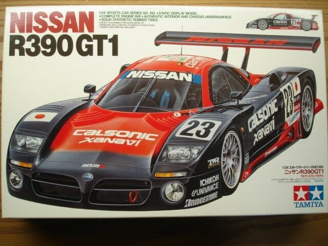 Tamiya 1 24 Scale Nissan R390 GT1  Clarion   Calsonic' Model Kit - New-No.24115