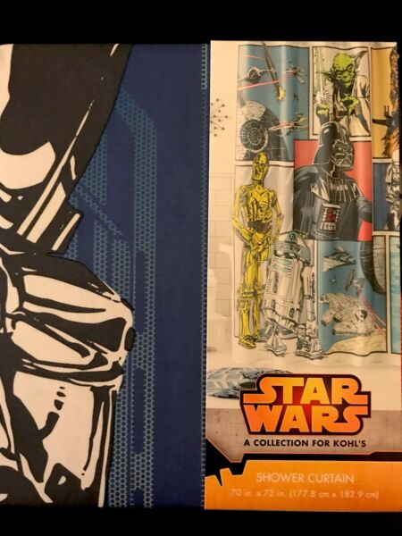 Star WarsTM SHOWER CURTAIN Original Trilogy STORE EXCLUSIVE Bathroom Accessory