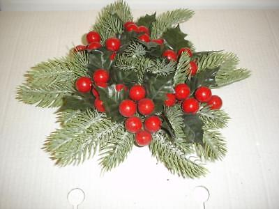 Christmas Ring.New 3 Candle Ring Christmas Decoration Red Holly Berry Fits Pillar Candles Ebay