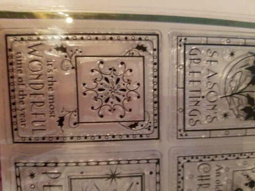 Clear Acrylic Stamps 6 Christmas Inkadinkadoo 99622 Scrapbooking NEW