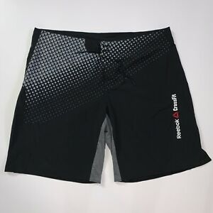 Mens-Size-2XL-Reebok-CROSSFIT-Black-Stretch-Athletic-Cross-Training-Shorts-XXL