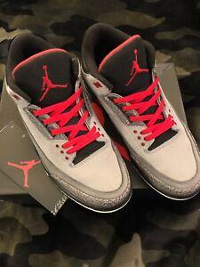 44cdf5a58f8c6b Pre Owned Nike Air Jordan 3 Retro Stealth Grey Men s 10.5 Authentic ...