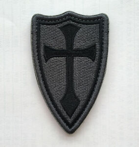 CROSS-CRUSADER-SHIELD-NAVY-SEAL-DEVGRU-ARMY-TACTICAL-BADGE-Embroidery-PATCH