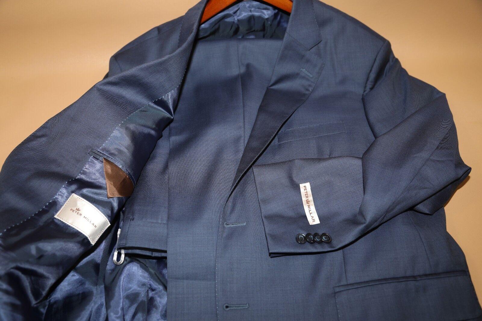 134 Peter Millar Flynn Light Blau Two Button Suit Größe 44 Short