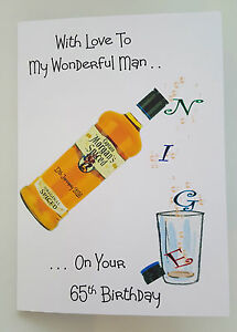 Image Is Loading Personalised Birthday Card Husband Son Dad MORGANS SPICED