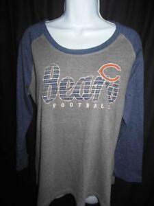 Chicago Bears Women's NFL Team Apparel Long Sleeve Stone Wash Design