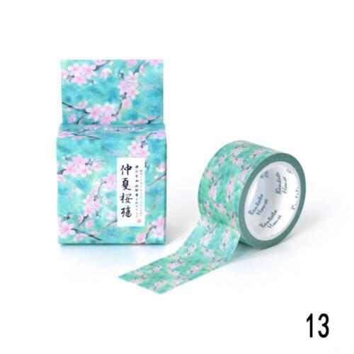 Traditionelle japanische Blumen Kawaii japanische Washi Tape Masking Tape A D7D3